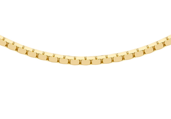 "9ct Yellow Gold 40 Mirror Box Chain 41m/16""9"