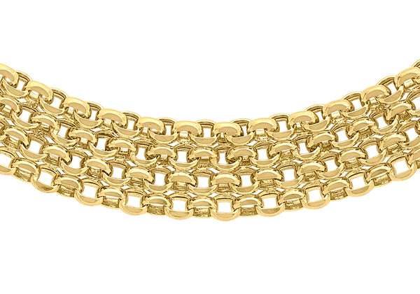 "9ct Yellow Gold 36 Garibaldi Chain 43m/17""9"