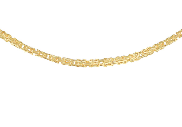 9ct Gold Mini Squares Byzantine Necklace