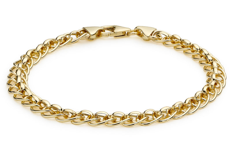 "9ct Yellow Gold Rollerball Bracelet 19m/7.5""9"