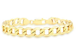 9ct Yellow Gold 180 6 Sided Curb Chain Bracelet