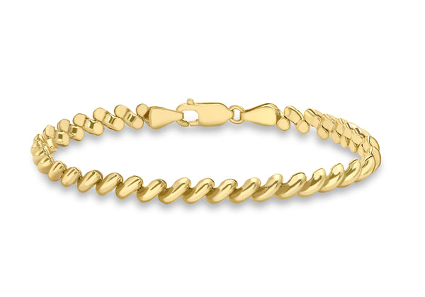 9ct Yellow Gold San Marco Bracelet