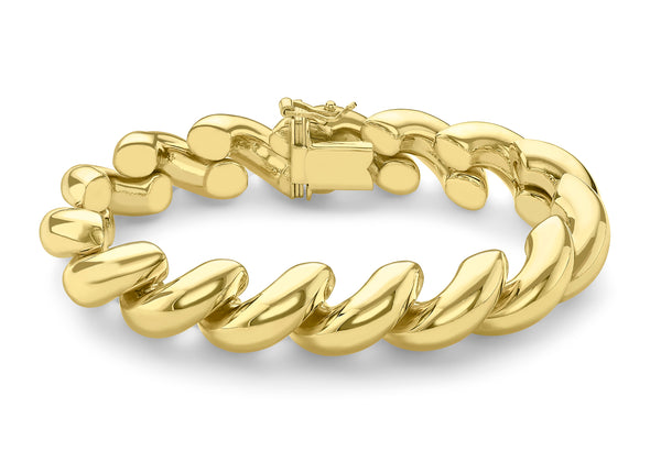 "9ct Yellow Gold San Marco Bracelet 20m/8""9"