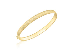 9ct Yellow Gold Diamond Cut Flexible Bangle