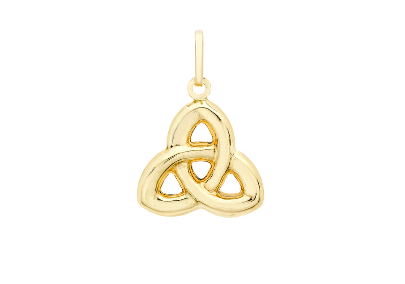 9ct Yellow Gold Celtic Knot Pendant