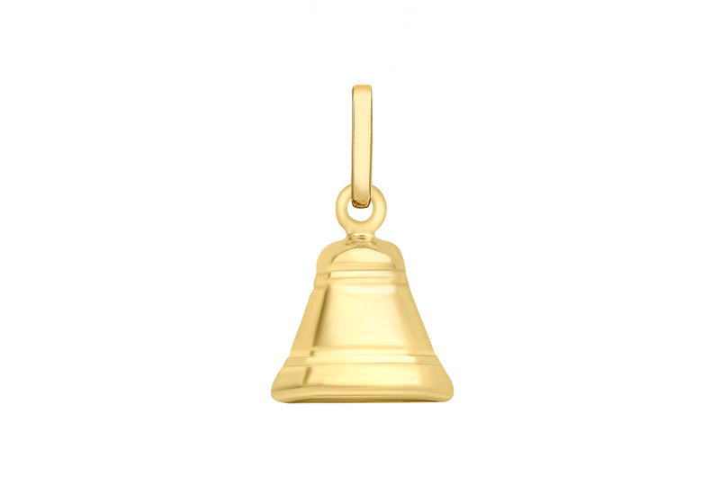 9ct Yellow Gold Bell Pendant