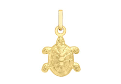 9ct Yellow Gold 10mm x16mm Turtle Pendant