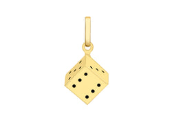9ct Yellow Gold Die Pendant