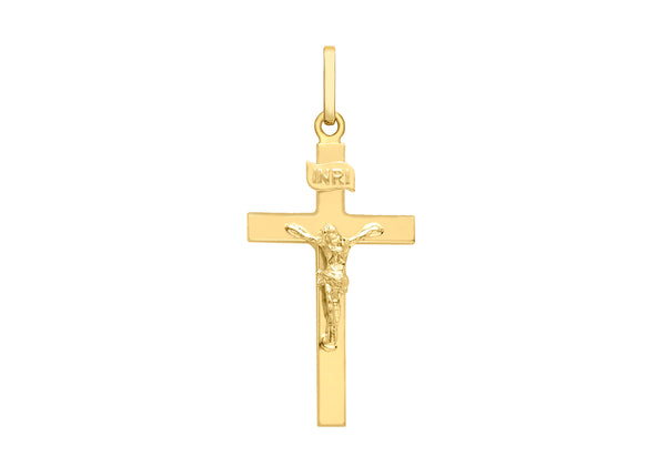 9ct Yellow Gold Polished Crucifix  Pendant