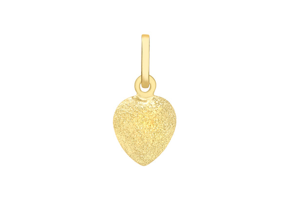 9ct Yellow Gold Stardust Heart Pendant