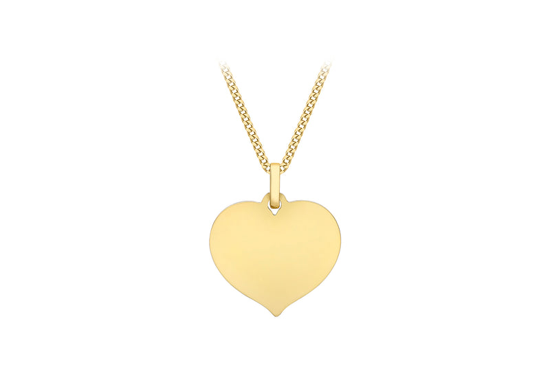 9ct Yellow Gold 17.9mm x 21.5mm Heart Pendant