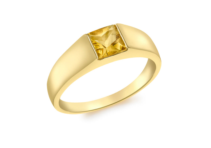 9ct Yellow Gold Square   Dress Ring