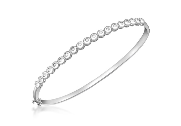 9ct White Gold 0.26t Diamond Tennis Bangle