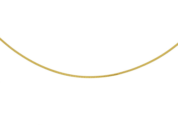18ct Yellow Gold 0.8mm Round Omega Chain