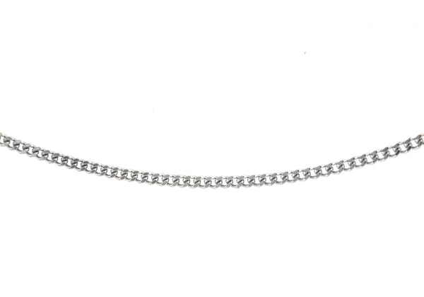 "18ct White Gold 50 Diamond Cut Curb Chain 41m/16""9"