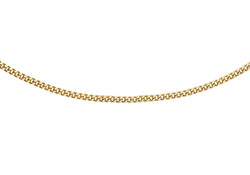 "18ct Yellow Gold 30 Diamond Cut Curb Chain 41m/16""9"