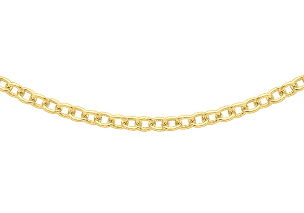 "18ct Yellow Gold 40 Trace Chain 41m/16""9"