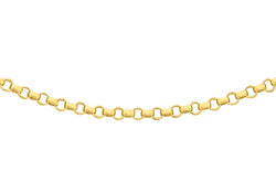"18ct Yellow Gold 45 Round Belcher  Chain 41m/16""9"