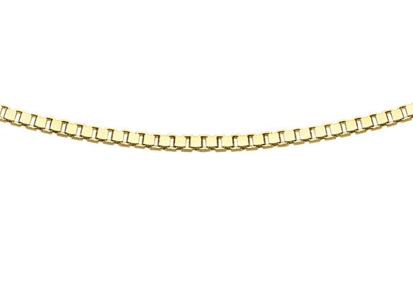 8 Sided Box Chain 18ct Gold