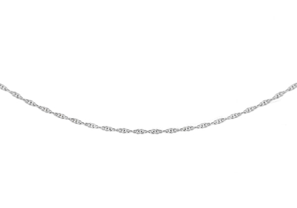 "18ct White Gold 20 Prince of Wales Chain 46m/18""9"