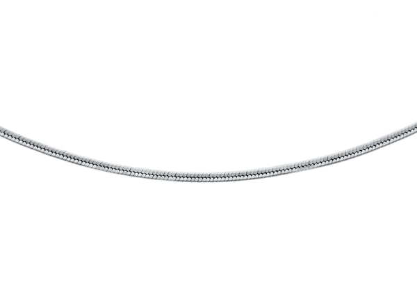 18ct White Gold Snake Chain