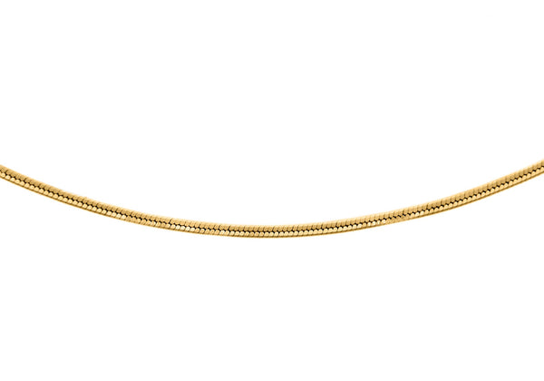 Shiny Snake Chain 18ct Gold