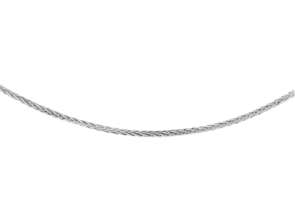 18ct White Gold Mini Spiga Chain