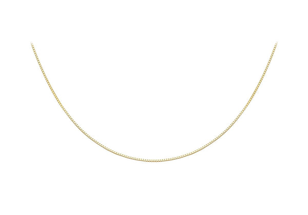 18ct Yellow Gold Adjustable Heart Slider Box Chain