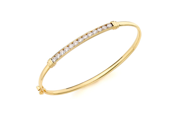 Gold Zirconia  Bracelet 18ct Gold