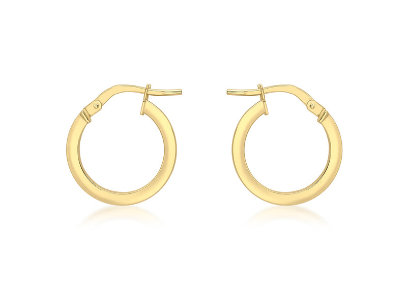 18ct Yellow Gold 16mm Round Creole Earrings