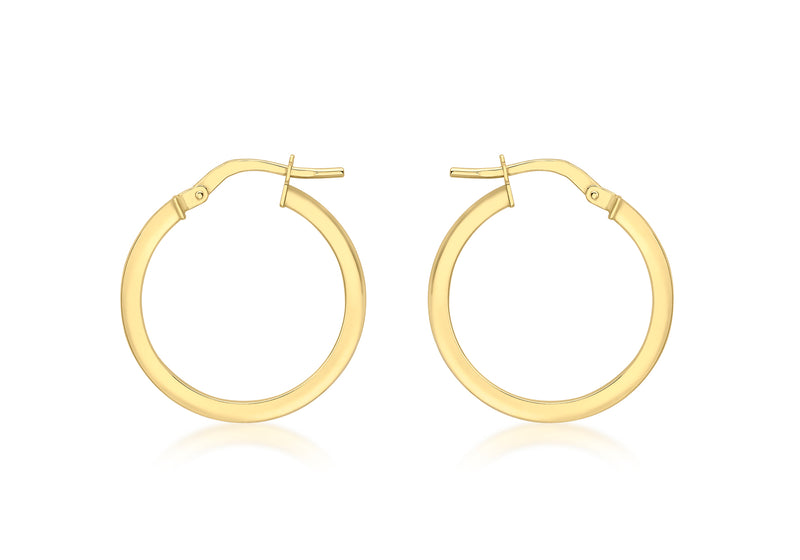 18ct Yellow Gold Round Creole Earrings