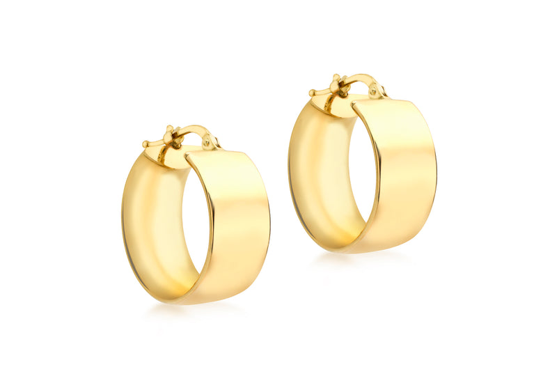 18ct Yellow Gold 19mm Huggy Earrings