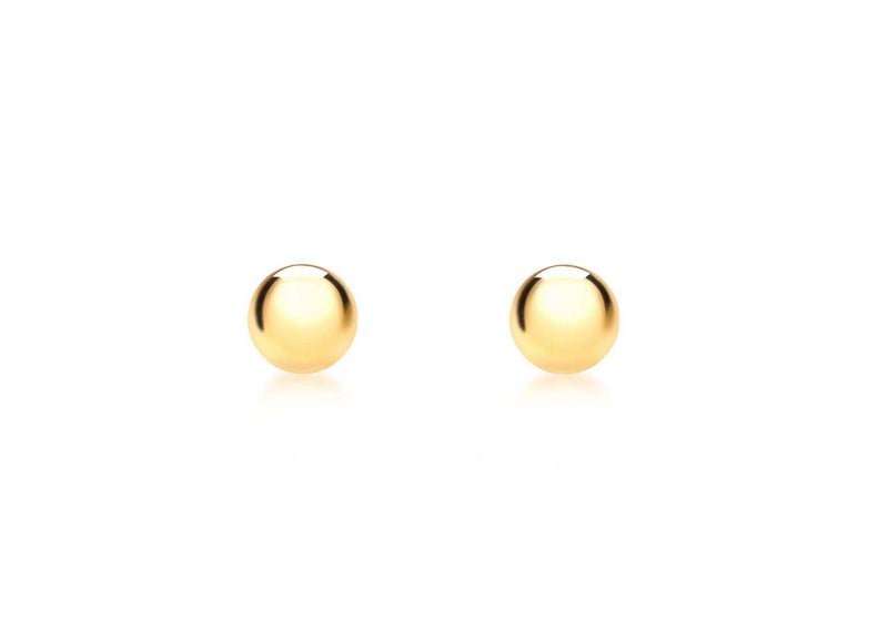 18ct Yellow Gold 3mm Ball Stud Earrings