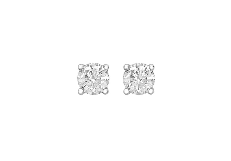 18ct White Gold 0.50ct Diamond 4mm Stud Earrings