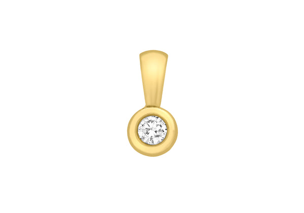 18ct Yellow Gold 0.25ct Diamond Doughnut Pendant