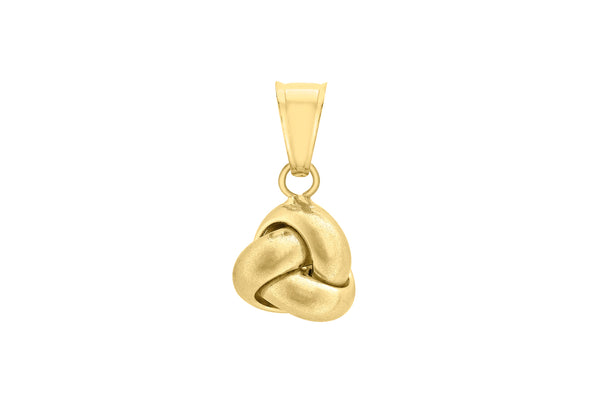 18ct Yellow Gold Small Triple-Knot Pendant