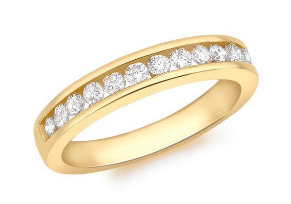 18ct Yellow Gold 0.50ct Diamond Channel Set Eternity Ring