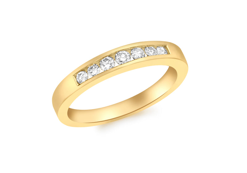 18ct Yellow Gold 0.25t Diamond Channel Set Eternity Ring