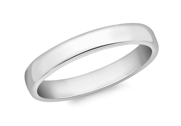 18ct White Gold 3mm Court Ring
