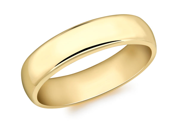 18ct Yellow Gold 5mm Court Ring
