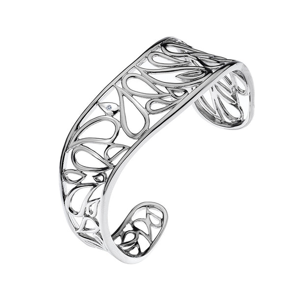 Openwork Bangle Hand-Set With A Diamond Accent