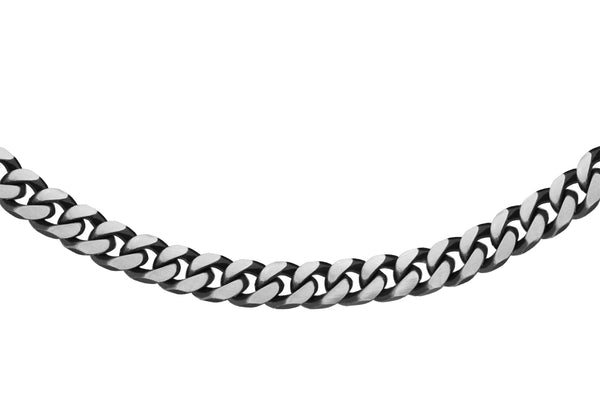 "Sterling Silver 150 Oxidised  Curb Chain 46m/18""9"