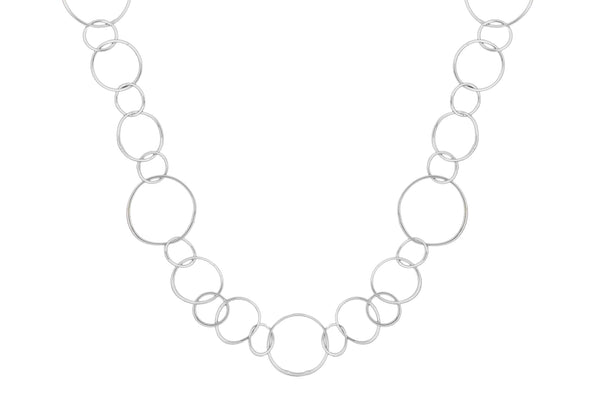 Sterling Silver Multi Circle Necklace