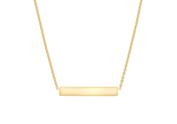 Horizontal Bar Necklace  Sterling Silver Yellow Gold Plated9