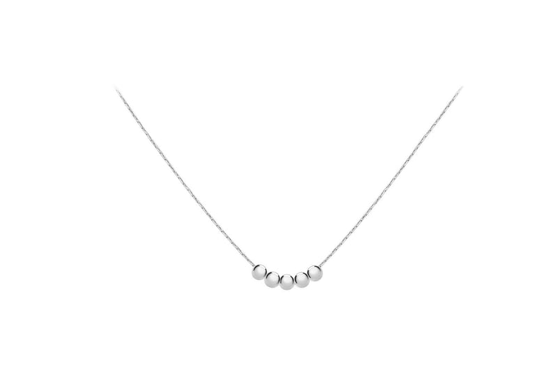 "Sterling Silver 4mm Balls & Diamond Cut Snake Chain Necklace  46m/18""9"