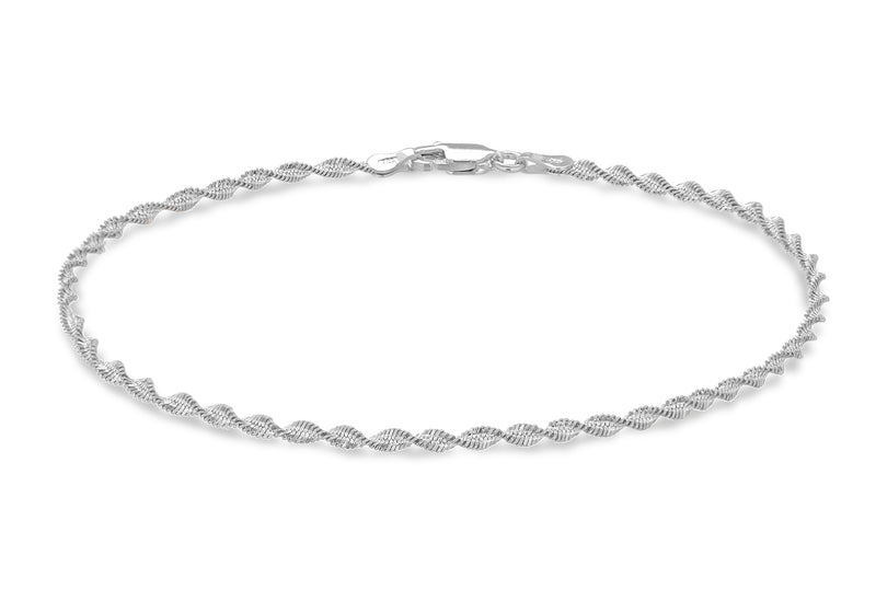Sterling Silver Rhodium Plated Mini Ballros Bracelet