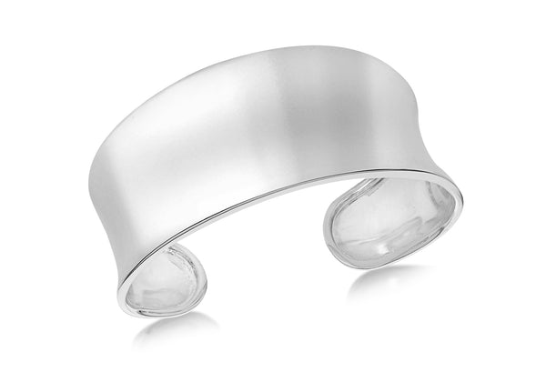 Sterling Silver 30mm onave Bangle