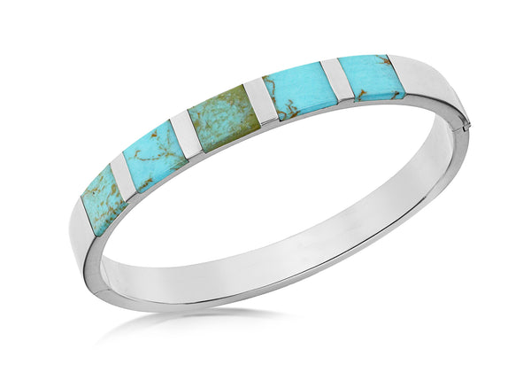 Sterling Silver Turquoise 8mm Bangle