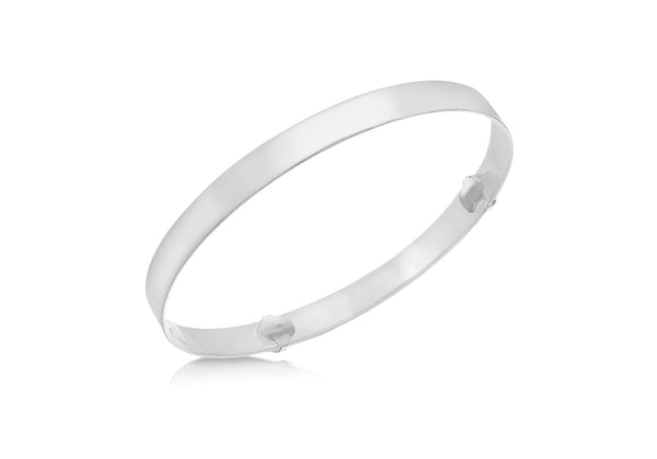 Sterling Silver Polished Baby Bangle