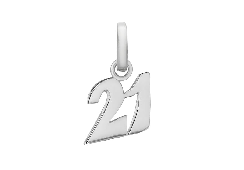 Sterling Silver '21' Pendant